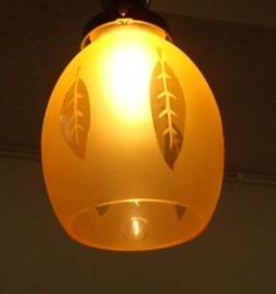 ぼんぼり ペンダントランプ 葉