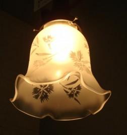 花ぶちガラス ペンダントランプ 撫子
