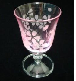 ラスター冷酒グラス 桜