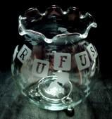 金魚鉢に名前を彫刻 1