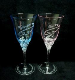 クリスタルペアーワイングラス